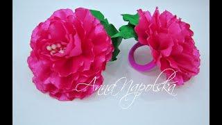 як зробити трояндочки з стрічок своїми руками