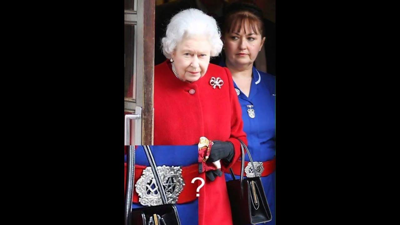 The Queen Elizabeth Look At The Masonic Symbol Youtube