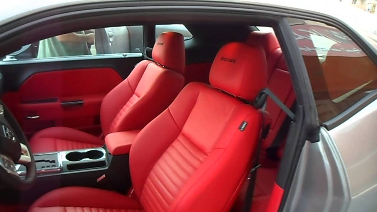 Leather Car Seats >> DODGE CHALLENGER 2012 HQ Custom Interior - YouTube
