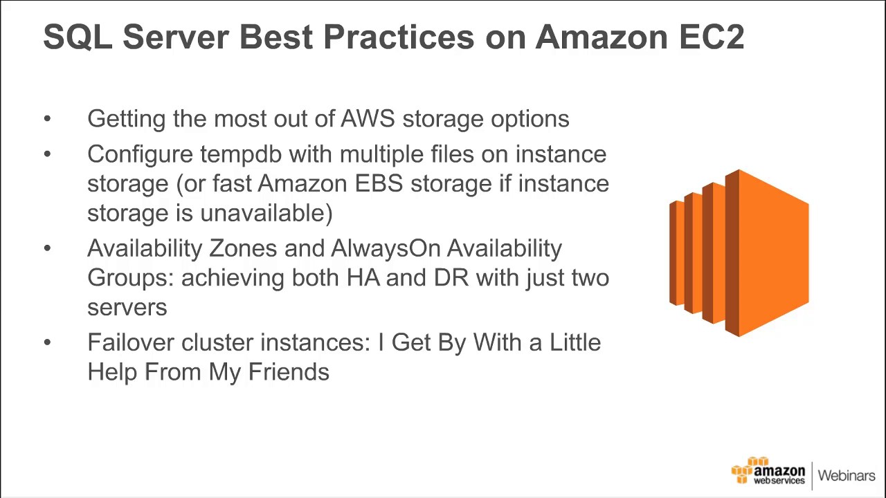 Design, Deploy, and Optimize SQL Server on AWS - 2017 AWS Online Tech Talks