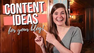CONTENT IDEAS FOR YOUR BLOG // How To Come Up With Engaging Blog Post Ideas For Your Audience