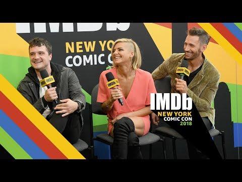 Josh Hutcherson, Eliza Coupe, and Derek Wilson Get Explicit at Comic Con  NYCC 2018