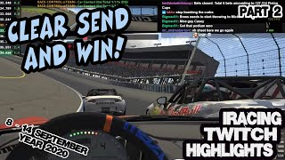 iRacing Twitch Highlights 8-14 September 2020 Part 2 Funny Unexpected moves saves wins fails