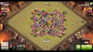 Clash of Clans TH7 vs TH7 Dragon & Balloon (Dragloon) (No Spells) Clan War 3 Star Attack