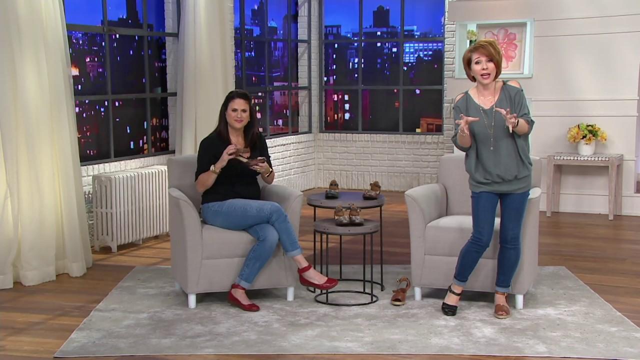 9da4fc5dbe1f7 Clarks Leather Closed Toe Sandals - Wendy Leehi on QVC - YouTube