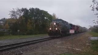 CEFX Leads a CP Rail Mixed Freight Past the Old CPR Station in London, Ontario on October 31, 2018
