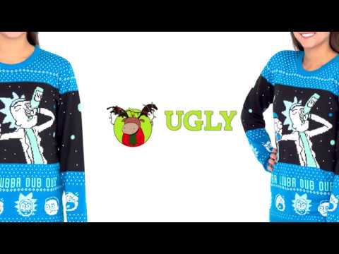 Rick And Morty Christmas Sweater.Wubba Lubba Dub Dub Rick And Morty Christmas Sweater