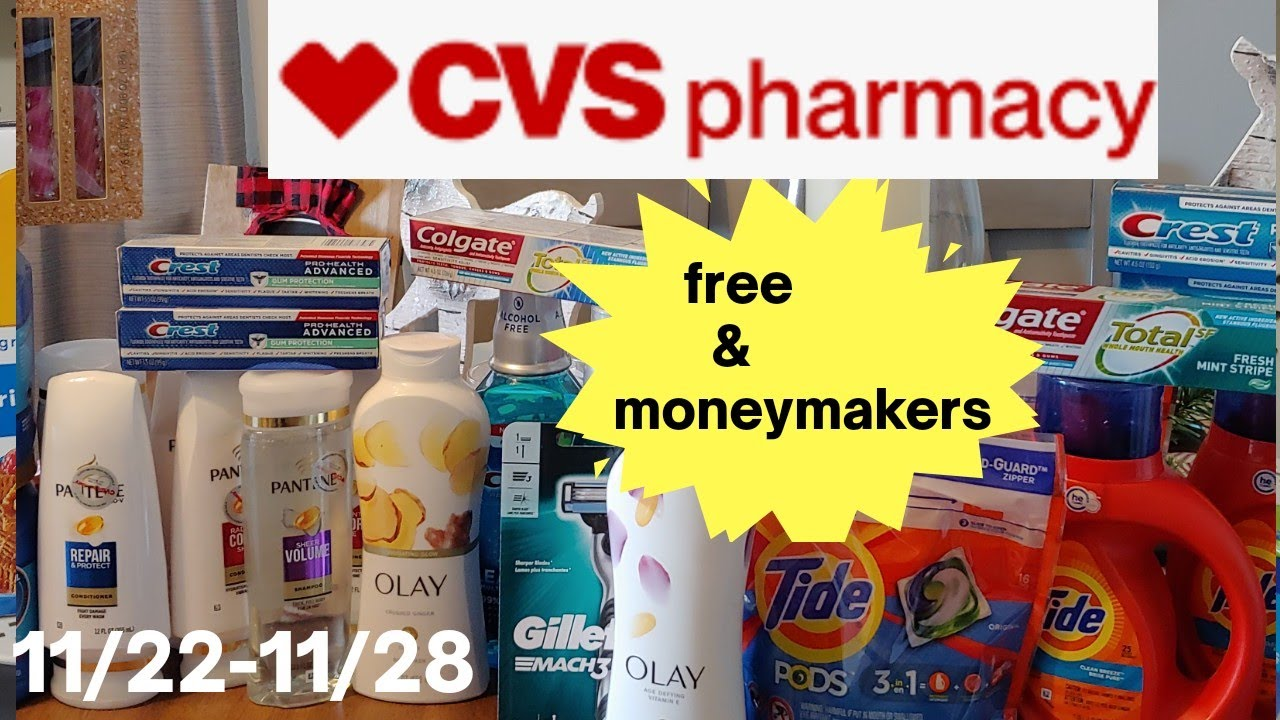 CVS Coupon Haul 11/22-11/28 moneymakers and freebies