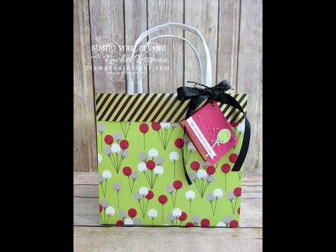 Paper Pumpkin June 2018 - Collapsible Gift Bag & Tag