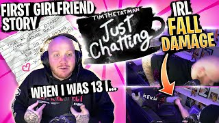 TIMTHETATMAN'S FIRST GIRLFRIEND... AWKWARD HIGH SCHOOL STORIES!- JUST CHATTING