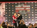 Fedor vs Sonnen Face-off at Bellator 208 Press Conference