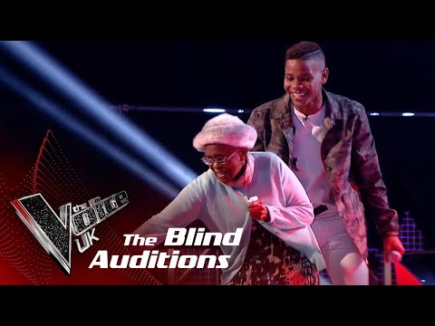 Donel Mangenas Amazing Dancing Granny Steals the Show!   The Voice UK 2018