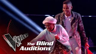 Donel Mangena's Amazing Dancing Granny Steals the Show!    The Voice UK 2018