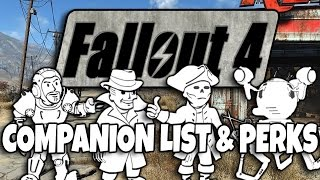 Fallout 4 Companions - Party Limit, Companion List, Companion Perks