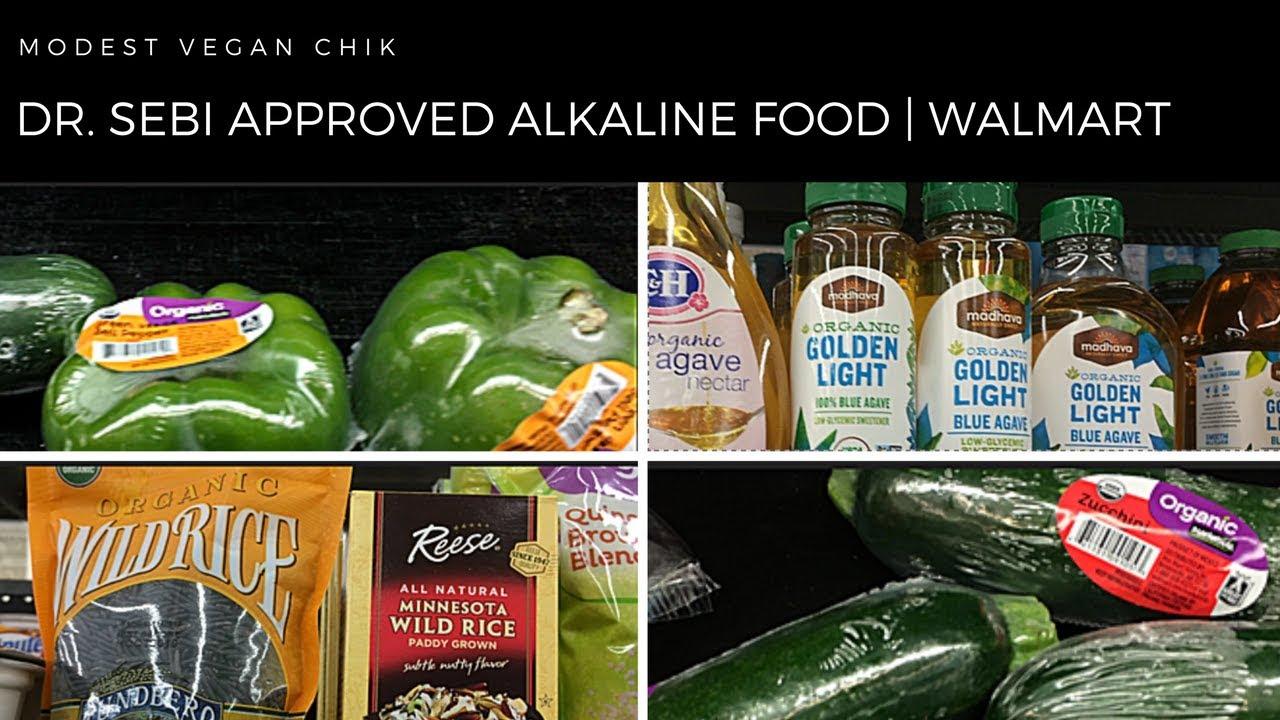 Dr Sebi Approved Alkaline Foods at WALMART | Alkaline Vegan Grocery Shopping