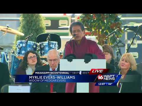 Myrlie Evers-Williams celebrates opening of Mississippi Civil Rights Museum
