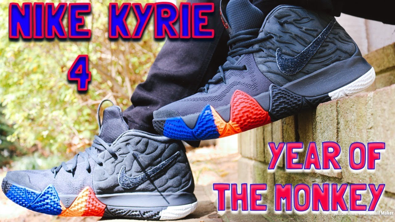 promo code bb1e9 a9083 NIKE KYRIE 4 YEAR OF THE MONKEY IN DEPTH REVIEW & GAS ON FEET