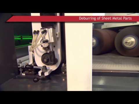 Sheet Metal Deburring Machines by Grind Master