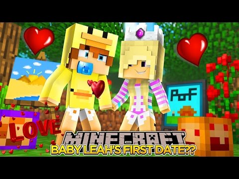 BABY LEAH'S FIRST DATE w/ BABY DUCK!!! - Minecraft - Little Donny Adventures.
