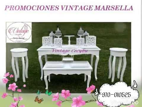 Mesas Vintage Cecybu