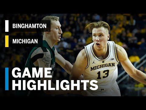 Highlights: Binghamton at Michigan | Big Ten Basketball
