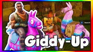 """NOUVEAU"" GIDDY-UP SKIN GAMEPLAY!!! (Fortnite: Bataille Royale)"