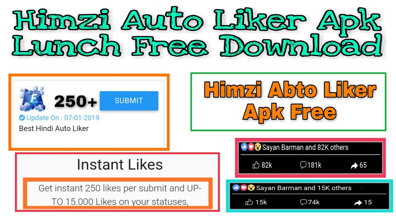 Get Instant 250 Likes Per Submit Himzi Auto Liker 2019