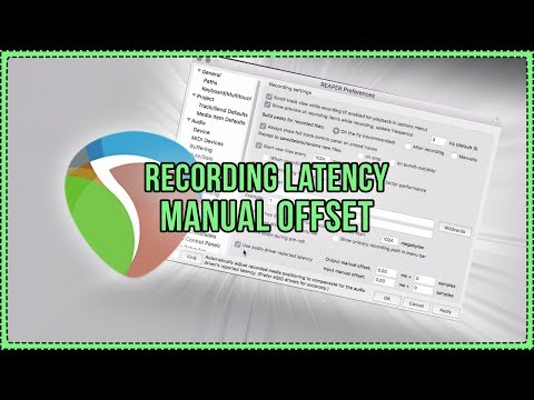 Recording Latency Manual Offset in REAPER |