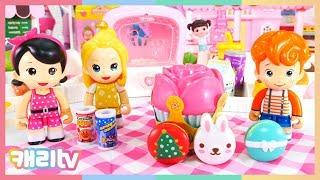 [장난감] 콩순이 부푸러 빵가게 장난감과 호빵맨 자판기…
