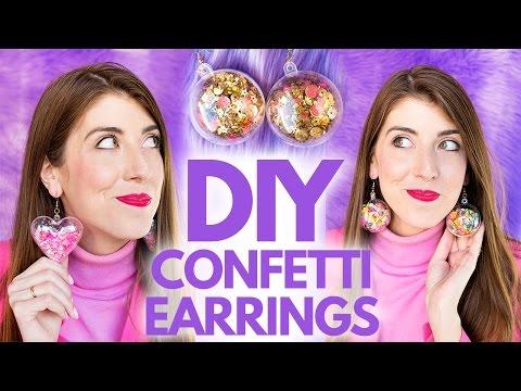 DIY Confetti Earrings!!