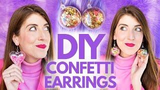 BRICOLAGE, des Confettis, des Boucles d'oreilles!!