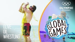 Olive Oil Wrestling - Olympians vs Influencers | The Global Games