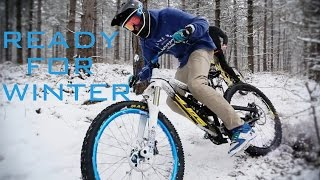 WINTER is AWESOME     Freeride and Downhill MTB ready for winter Tribute    BikingNL