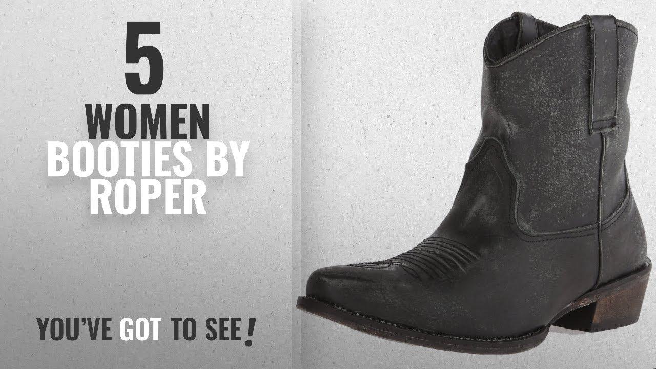 3c508656345 Top 10 Roper Women Booties [2018]: Roper Women's Dusty Western Boot, Black,  8.5 M US