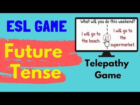 ESL Classroom Games - Future Tense - Telepathy Game