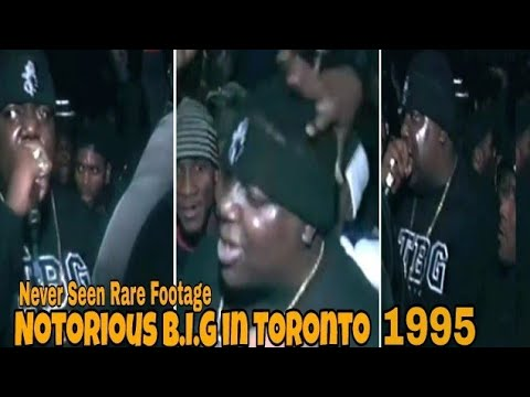 Notorious BIG (1995) Toronto Live On Tour Performing Big Poppa And More