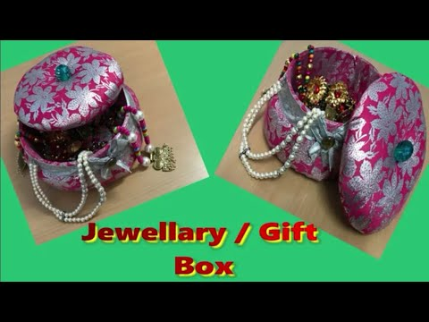 Jewellery box and gift box making at home with waste material.Best out of waste cardboard.
