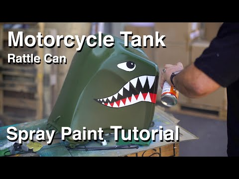 ArtPrimo.com GR Motocycle Fuel Tank Painting and Marker Tutorial