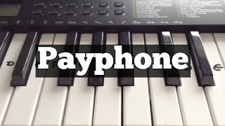 Payphone - Maroon 5 | Easy Keyboard Tutorial With Notes (Right Hand)