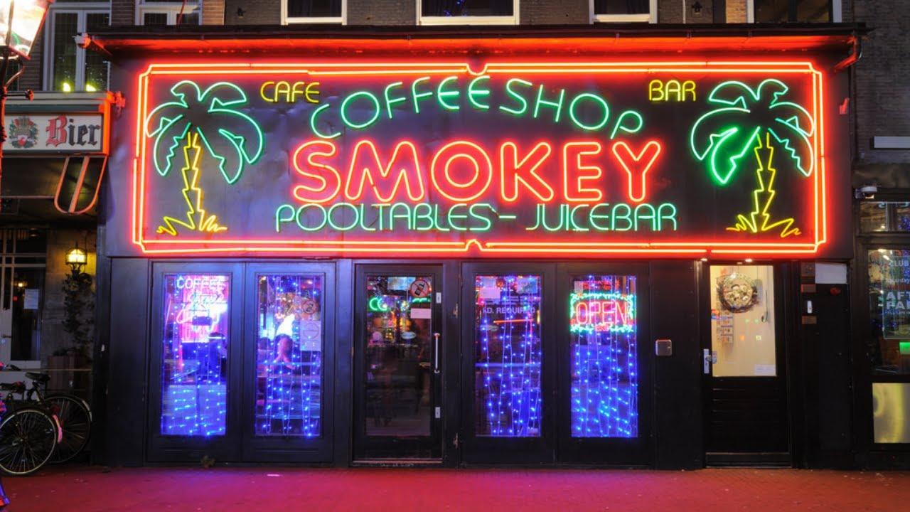 Amsterdam Coffee Shops - Smokey Coffee Shop - Rembrandtplein, Netherlands -  YouTube