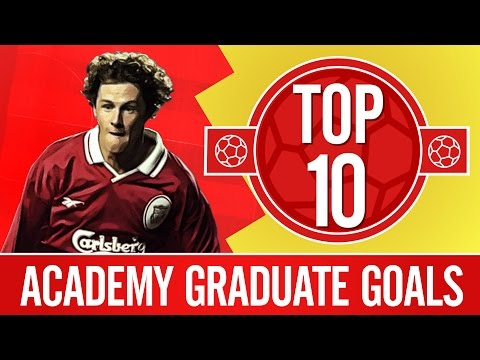 Top 10: Great goals from Liverpool's academy graduates | Gerrard, Fowler,