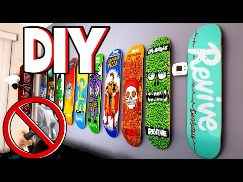 DIY-How To Wall Mount A Skateboard