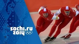 Speed Skating - Men's Team Pursuit - Semi-Finals | Sochi 2014 Winter Olympics