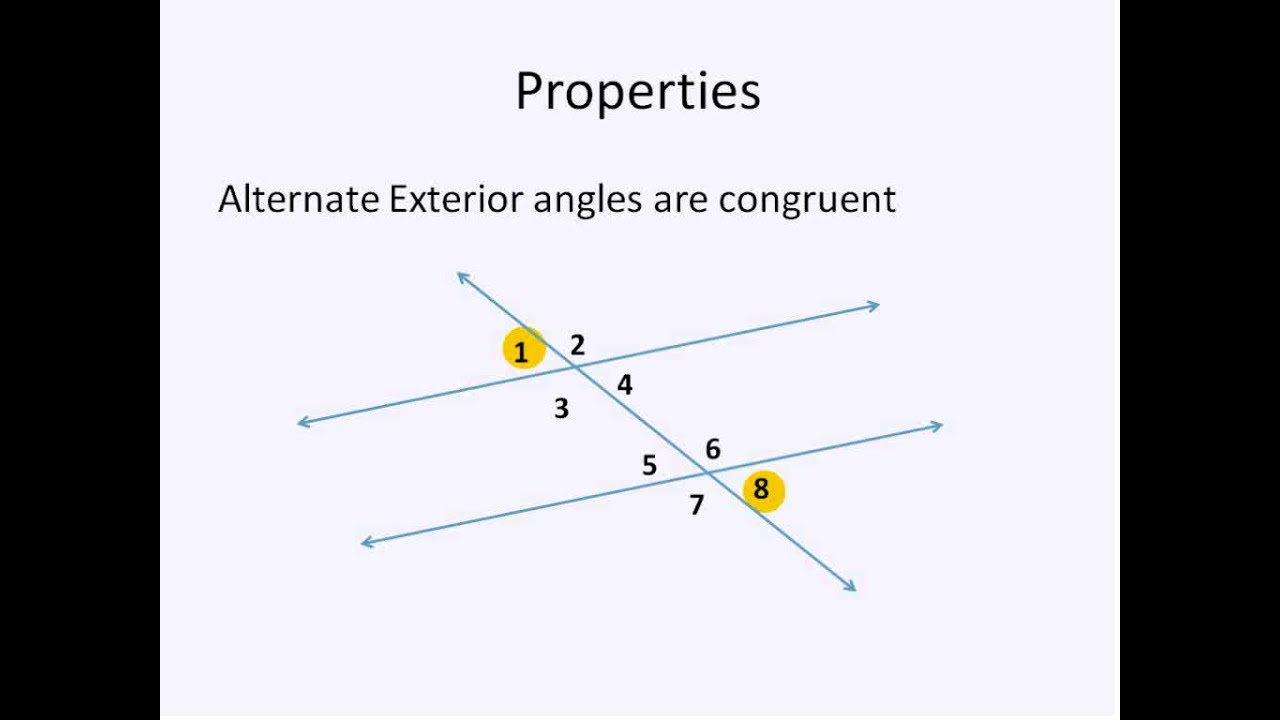 Parallel Lines and Transversals Simplifying Math YouTube – Parallel Lines and Transversal Worksheet