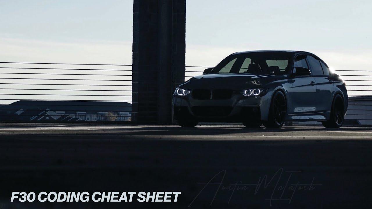 F30 Bmw Coding Cheat Sheet Youtube