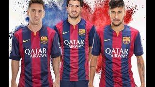 THE TRIO OF FC BARCELONA MESSI-SUAREZ-NEYMAR ALL 122 GOALS OF *MSN* 2014/2015