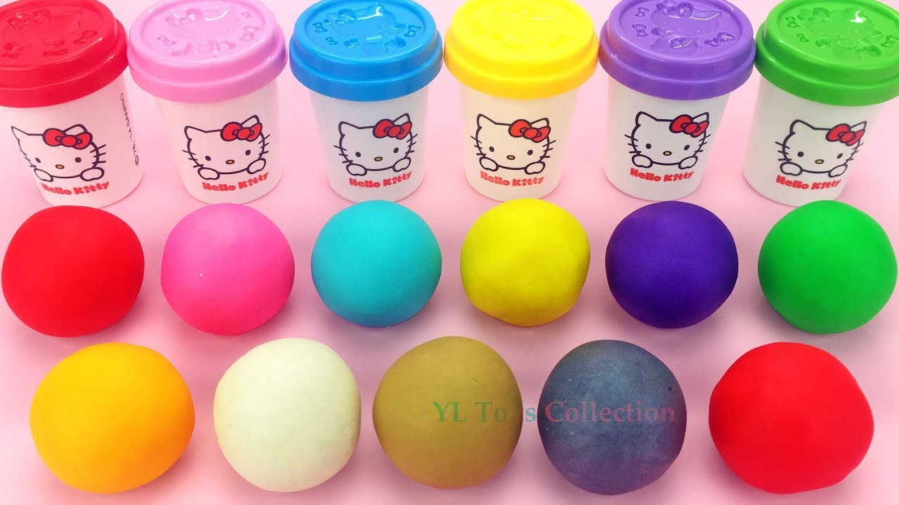 Download Learn Colors Hello Kitty Play Dough with Elmo Ice Cream Popsicles and Surprie Toys PJ Masks