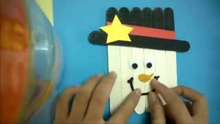 DIY Christmas Ornaments - Easy Make Craft Stick Scarecrows Magnet - Craft Ideas For Kids