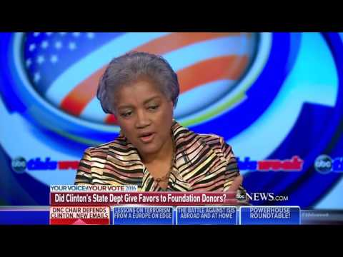 DNC chair Brazile totally dodges questions about links between State Department, Clinton Foundation