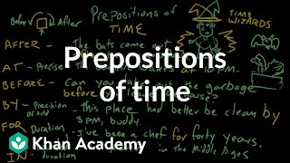 Prepositions Of Time | Prepositions | The Parts Of Speech | Grammar